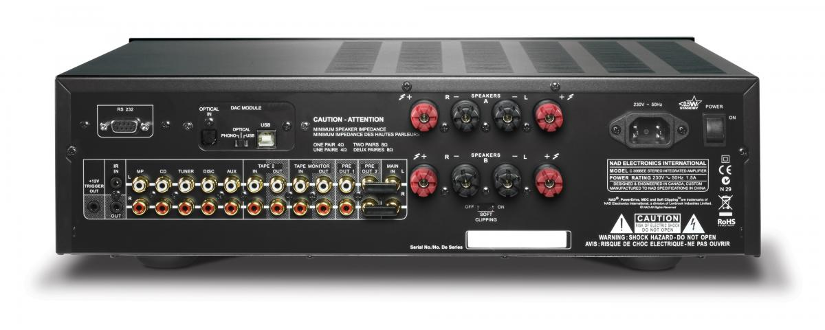 NAD C 356BEE DAC Stereo Integrated Amplifier (each) NAD C